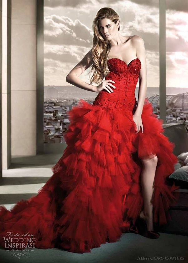 Bold B Red Wedding Dresses Above Listera