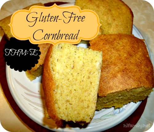 North Laurel Home & School: Gluten Free Cornbread (it has regular ol' yellow cornmeal- to make it better use sprouted blue cornmeal- I just don't have any!)
