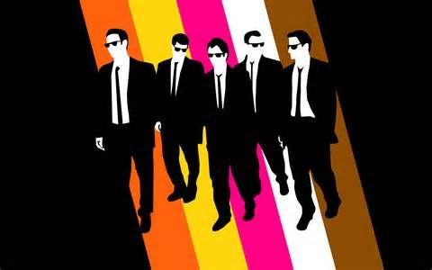 Reservoir Dogs With Their Color Names Quentin Tarantino Mr Brown Harvey Keitel Mr White Tim Roth Mr Orange Michael Madsen Mr Blonde Steve Buscem