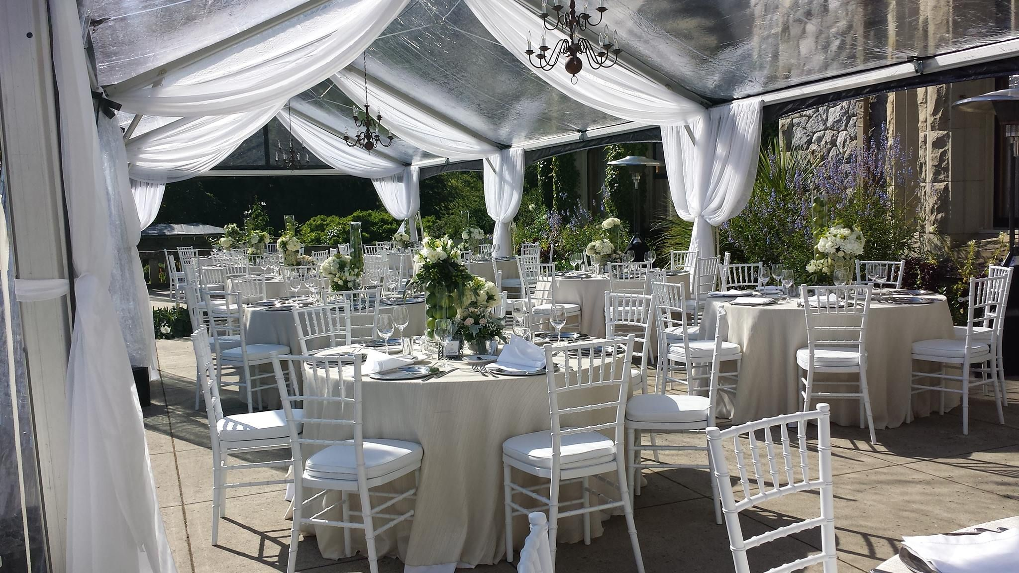 Chair Cover Rentals Victoria Bc Patterned Fabric Club Chairs Black White Party Parksville Vancouver Island Weddings