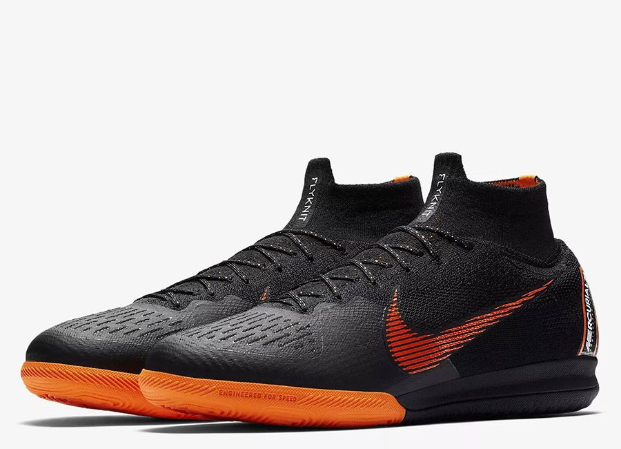 new style b27ee d1b66  football  soccer  futbol  nikefootball  futsal Nike MercurialX Superfly  360 Elite IC - Black   White   Total Orange