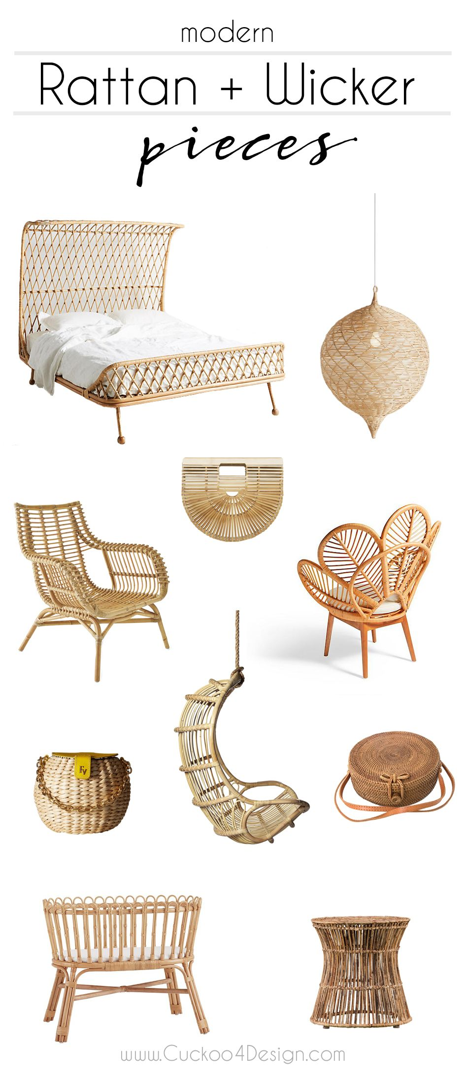 Friday favorites modern rattan and wicker trend via jakonya