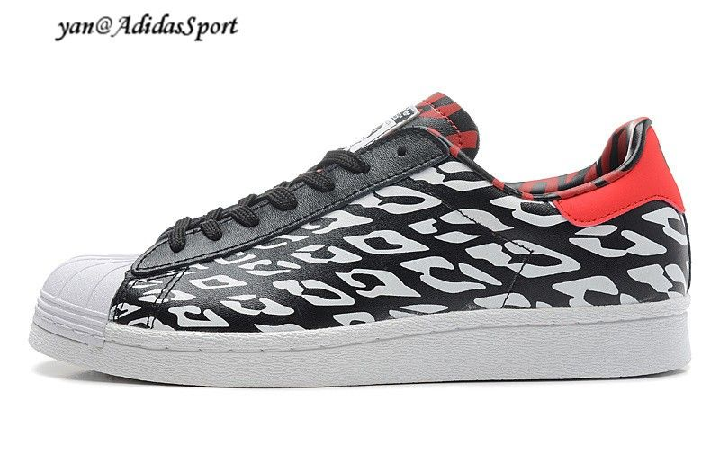 f75080c1a4a9 Adidas Superstar 80s World Cup 2014 Messi Limited Edition sneakers black  white red HOT SALE! HOT PRICE!