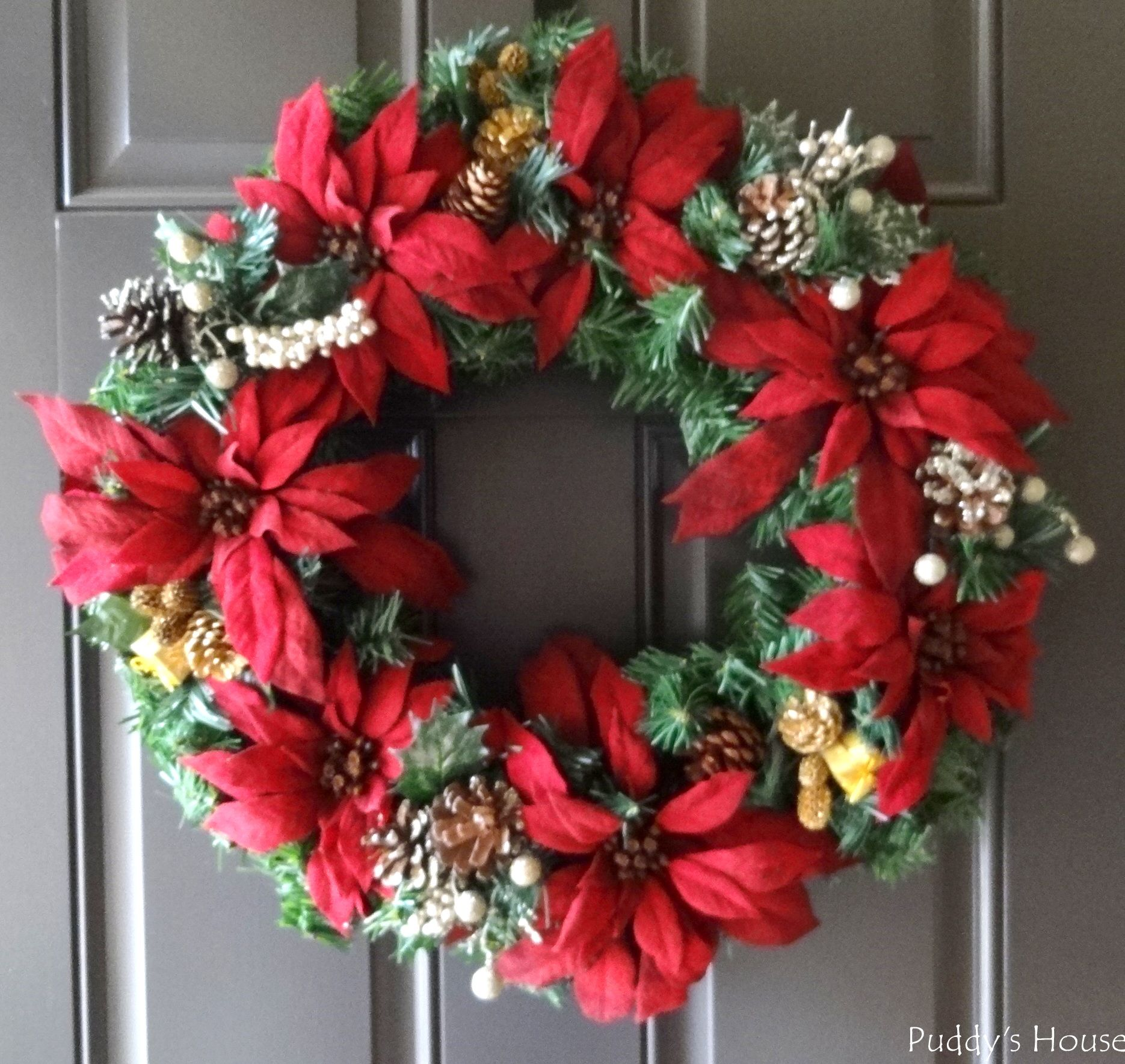 Christmas u2013 DIY Wreath on Door