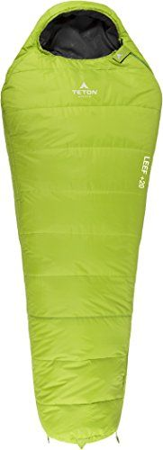 TETON Sports LEEF Ultralight Mummy Sleeping Bag Free Compression Sack Included * Learn more by visiting the image link. (This is an Amazon affiliate link)