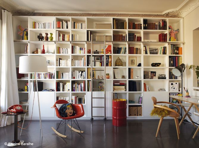 Bibliotheque pan de mur salon pinterest pan de mur - Leroy merlin bibliotheque ...