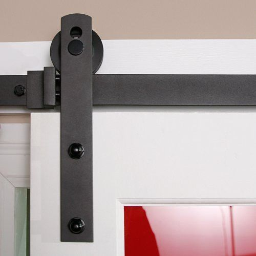 Barn Door Hardware Straight 6 6ft Black Barn Door Hardware Barn Doors Sliding Sliding Door Hardware