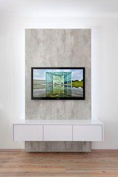 fernseher an die wand wohndesign. Black Bedroom Furniture Sets. Home Design Ideas