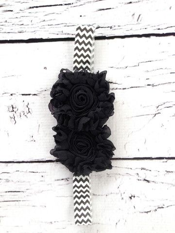 Black Chevron Sunflower- SUPER CUTE headbands! And the sales help out an AMAZING cause!!!