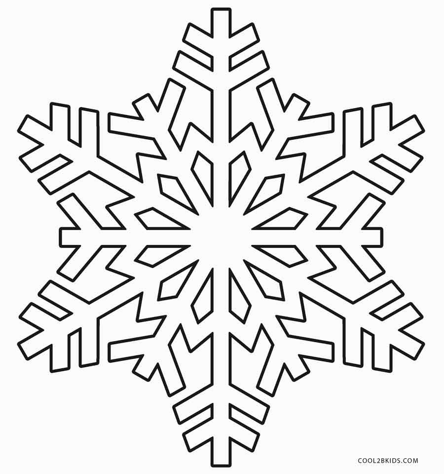Snowflake Coloring Pages Printable Snowflake Template Snowflake