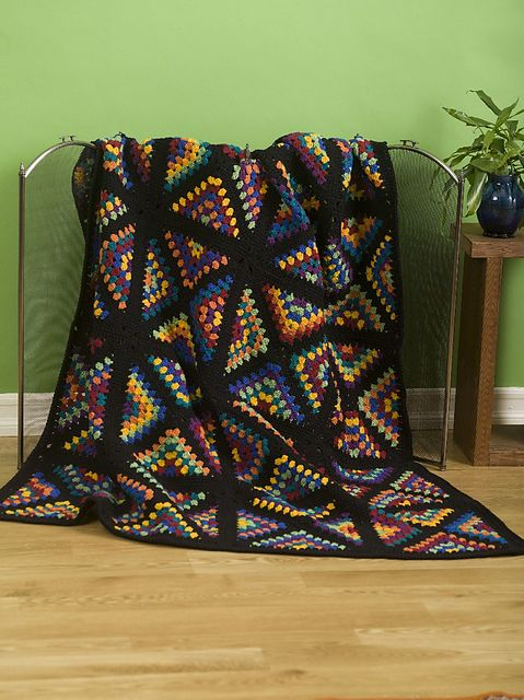 stained glass granny square 20 Stunning Examples of Stained Glass Inspired Crochet