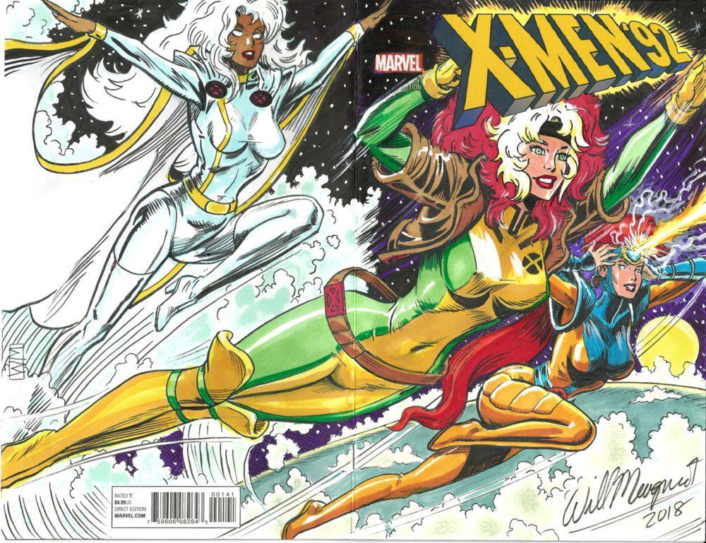 X Men 92 Blank Cover Sketch X Men Tas Producer Director Designer Will Meugniot Xmen Art Comics Love Rogue Gambit