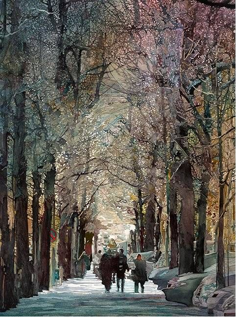 ...John Salminen - Boulevard John T. Salminen (born January 18, 1945) is an award-winning American watercolor painter who is well known for his realistic urban landscapes