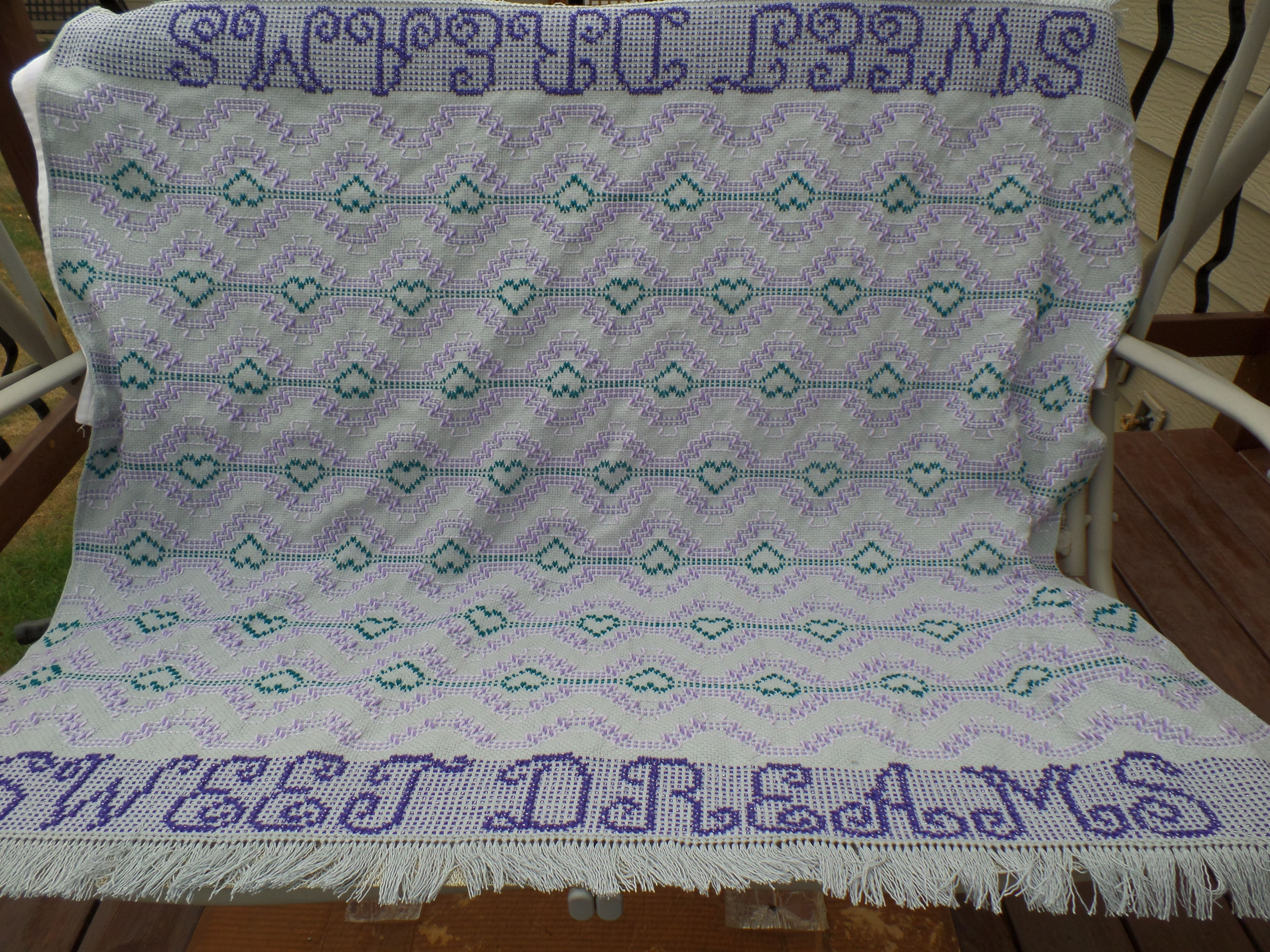 Sweet Dreams baby blanket made by Monk's Cloth Lady Swedish Weaving  Patterns, Sweet Dreams Baby