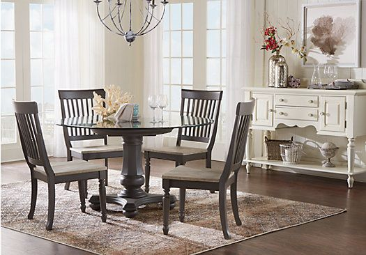 Picture Of Cindy Crawford Home Ocean Grove Gray 5 Pc Round Dining