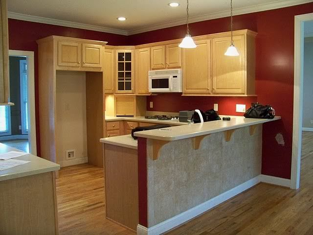 Red Accent Wall In Kitchen What Color Should I Paint My Kitchens Forum Gardenweb