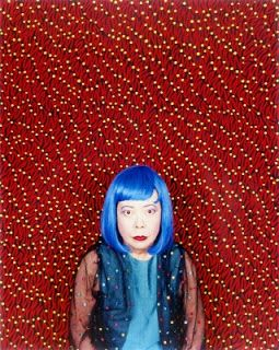 Yayoi Kusama, this 82 year old woman is one of the most modern artists nowadays she has a view of life so unique that is sometimes scary. copy this link to view psychedelic footage giving more insight into her psyche : http://poppinseatspancakes.blogspot.com/2011/05/artists-yayoi-kusama.html