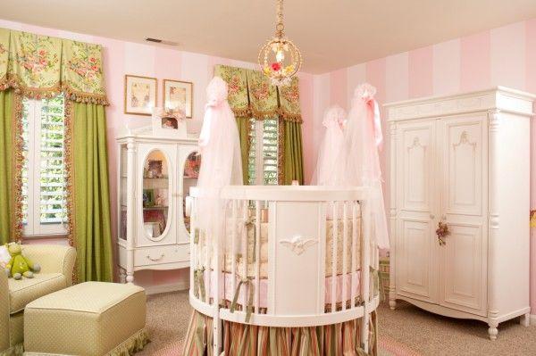 Fairy Themed Baby Nursery With Round Crib