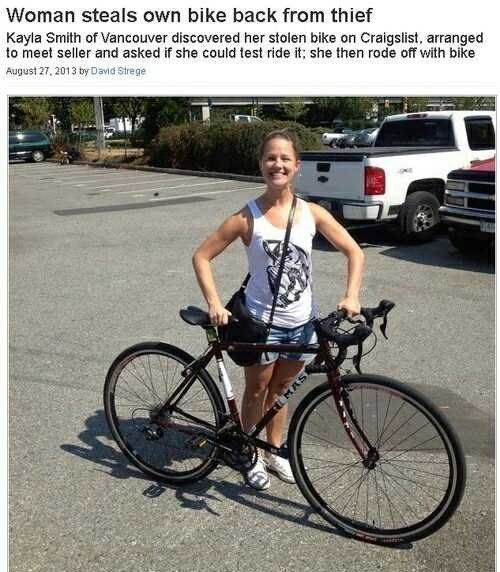 When This Thief Stole A Bike Then Tried To Sell It Back To The
