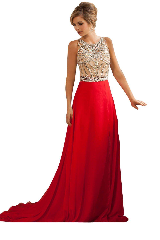 Ninialdy womenus jewel empire waist long beading crystal formal