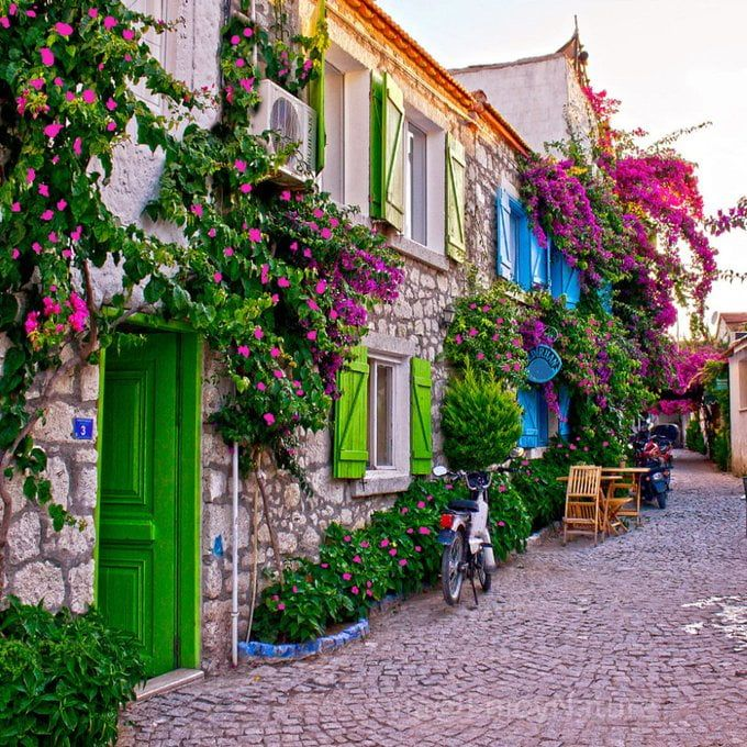 Beautiful street in Izmir, Turkey