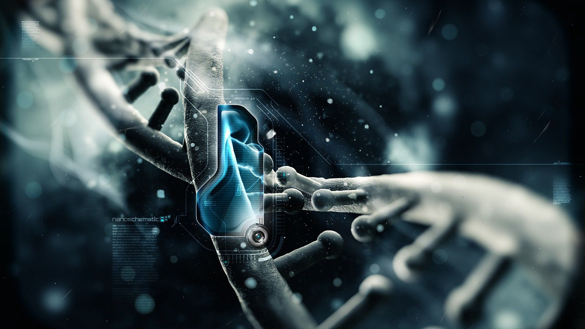 nice dna strand high definition 3d wallpapers for desktop hd