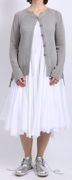 rundholz - Strickjacke Cotton light grey - Sommer 2016 - stilecht - mode für frauen mit format...