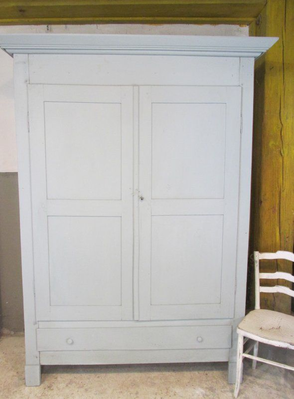Grote Antieke Tv Kast.Brocante Grote Antieke Kast In Frans Blauw Tv Furniture Armoire