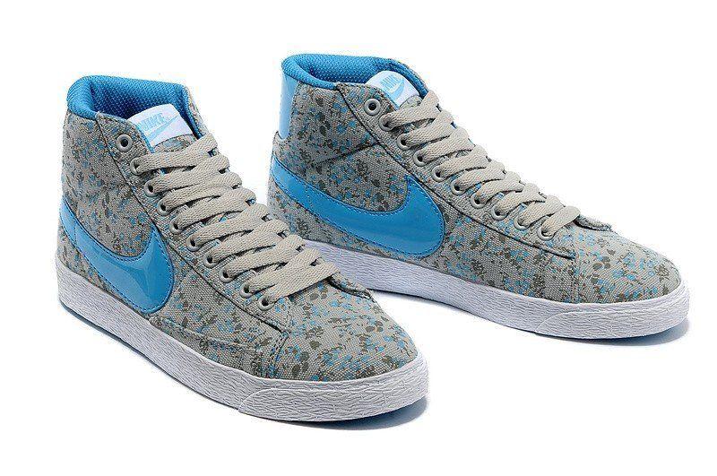 Vente 2015 Nike Blazer Gris clair - Bleu clair couleur 5OKEpY Vente Pas cher Prix