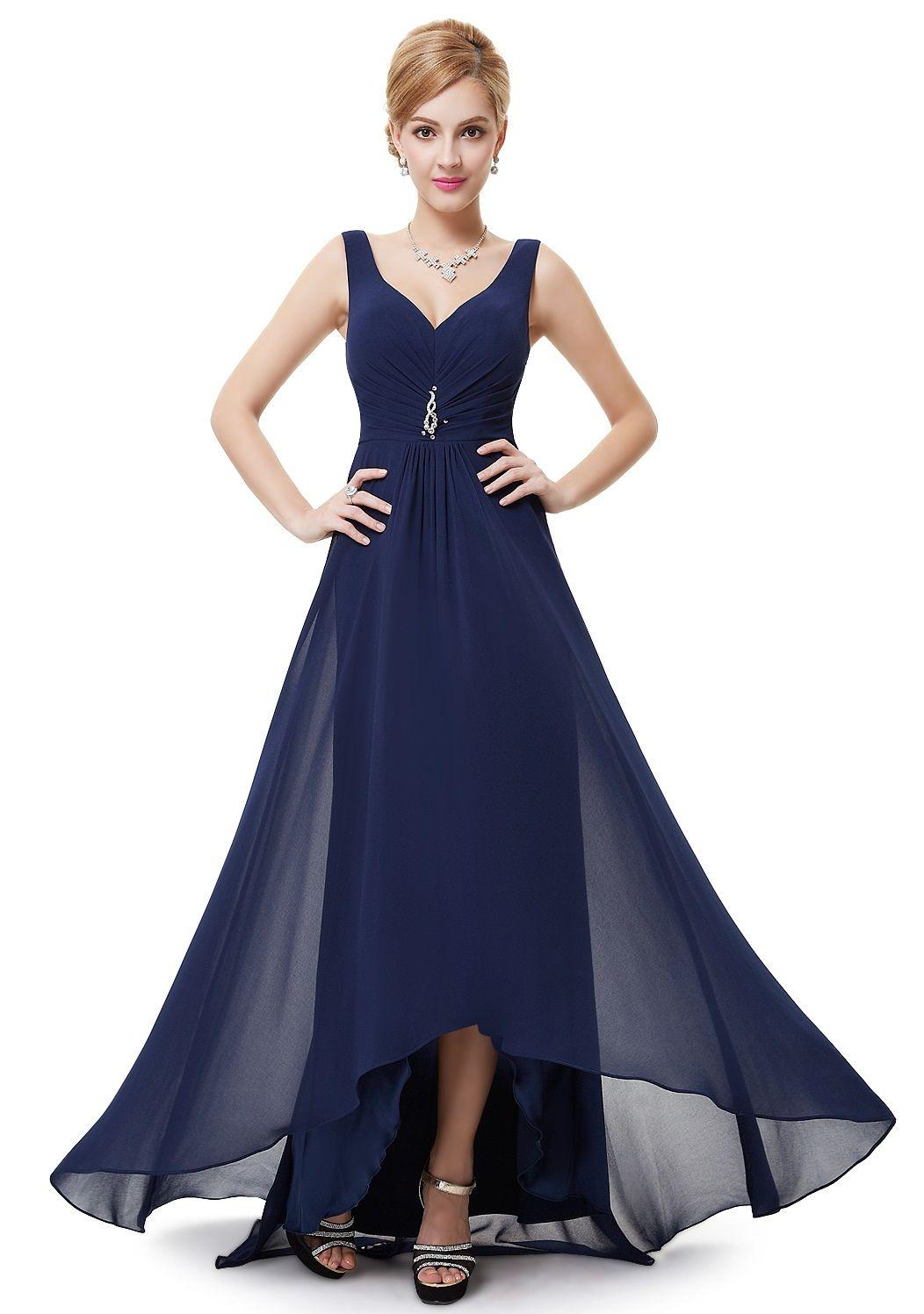 CERYS Navy Blue Jewel Chiffon Dress - www.eloises-secret-closet.co ...