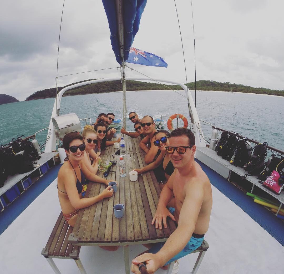 Livet ombord en seilbåt va ganske fint.  #greatbarrierreef #bårjåsvanntsa by isabellkatrin http://ift.tt/1UokkV2