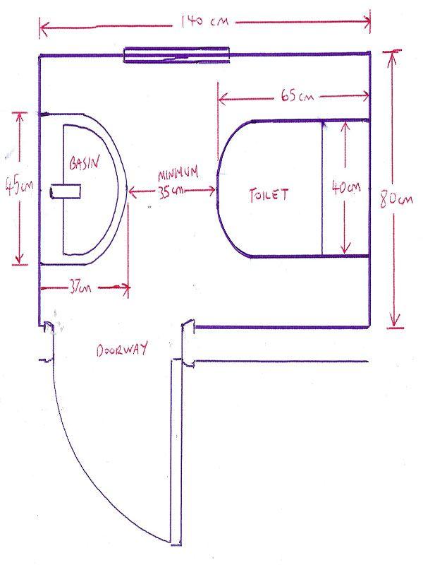 Minimum Size For A Downstairs Toilet With Bathroom Installation In Custom Minimum Bathroom Dimensions