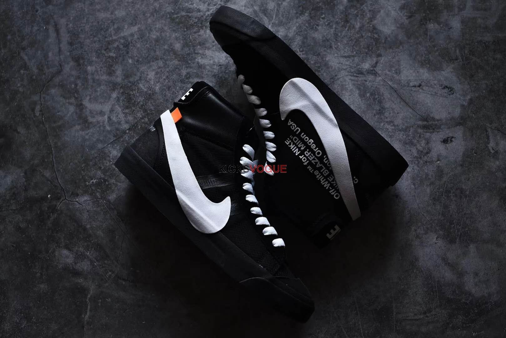 OFF-WHITE X NIKE BLAZER STUDIO MID Black 2018 AA3832- 001  598749b58