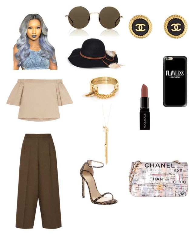 """"""""""" by qveennnnnn on Polyvore featuring TIBI, Etro, Smashbox, Illesteva, Steve Madden, Casetify, Taylor and Tessier, Chanel, Stuart Weitzman and Charlotte Russe"""
