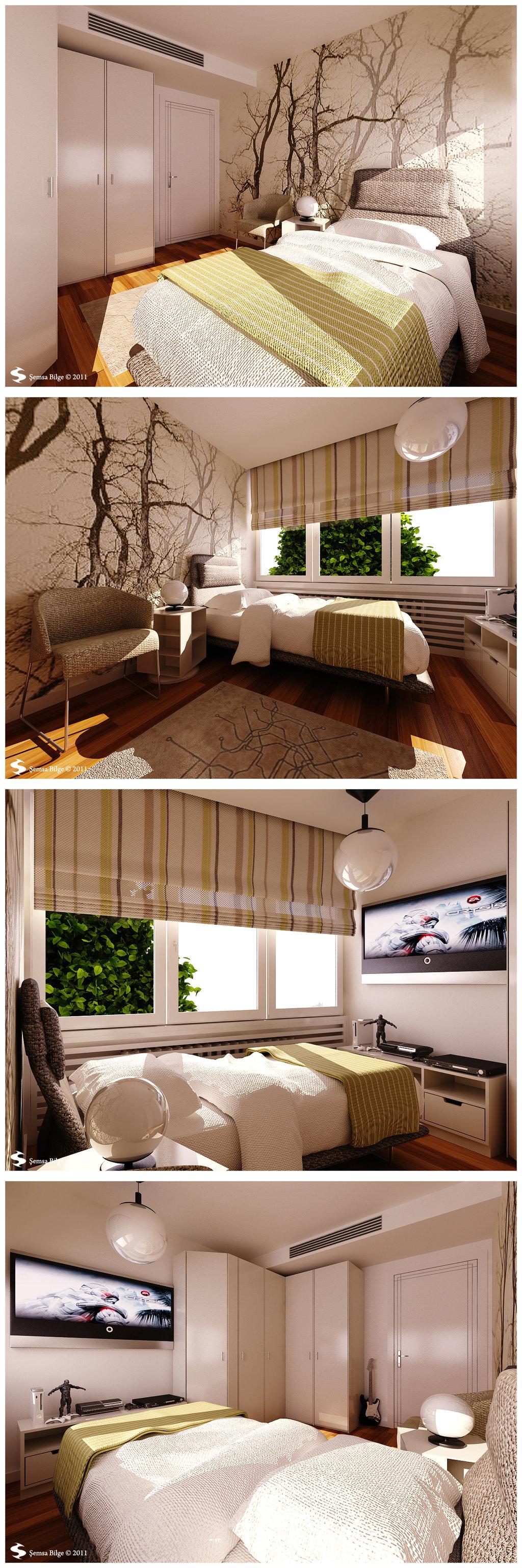 Istanbul House Teenage Bedroom 1 Visualisation