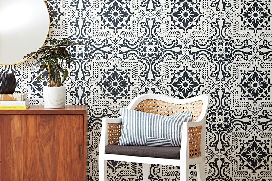 How To Use Stencils To Easily Paint Your Walls Pretty Canadian Living Country Living Magazine Decor Easy Diy Decor Trending Decor