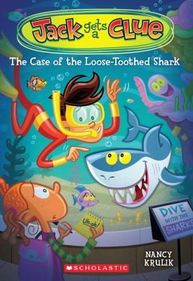 """""""Jack Gets a Clue: The Case of the Loose-Toothed Shark,"""" by Nancy Krulik. A funny mystery from bestselling author Nancy Krulik! When a giant shark tooth fossil goes missing during a birthday party at the aquarium, Jack finds himself in really deep water - the aquarium staff accuses him of stealing it! Jack must look to the animals at the aquarium for help, and work with his detective partner Elizabeth to clear his name!"""
