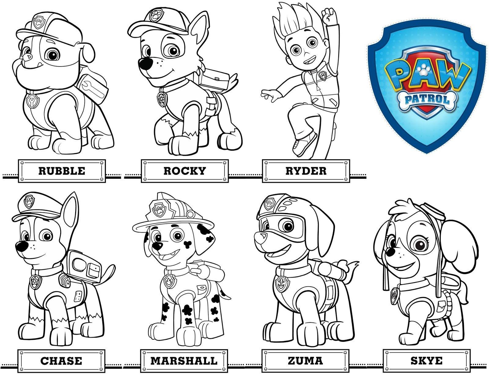 colorear-patrulla-canina | pow patrol | Pinterest