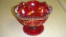 *RED CARNIVAL GLASS ~ Bowl, Hand Crafted Smith