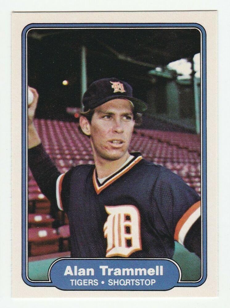 1982 fleer 283 alan trammell detroit tigers baseball card