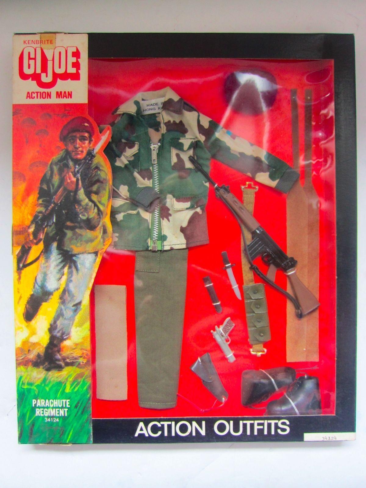 Vintage Australian Kenbrite G I Joe Action Man Parachute Regiment Outfit Boxed Sealed 1975 Gi Joe Toy Parachutes Vintage Toys 1970s