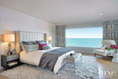 modern bedroom with ocean view Modern Master Bedroom with Ocean View | Bedrooms | LUXE