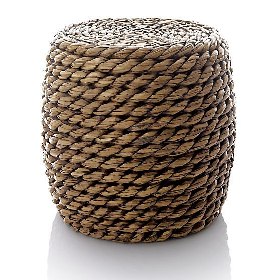 Samar ottoman in bath accessories crate and barrel my for Crate and barrel pouf
