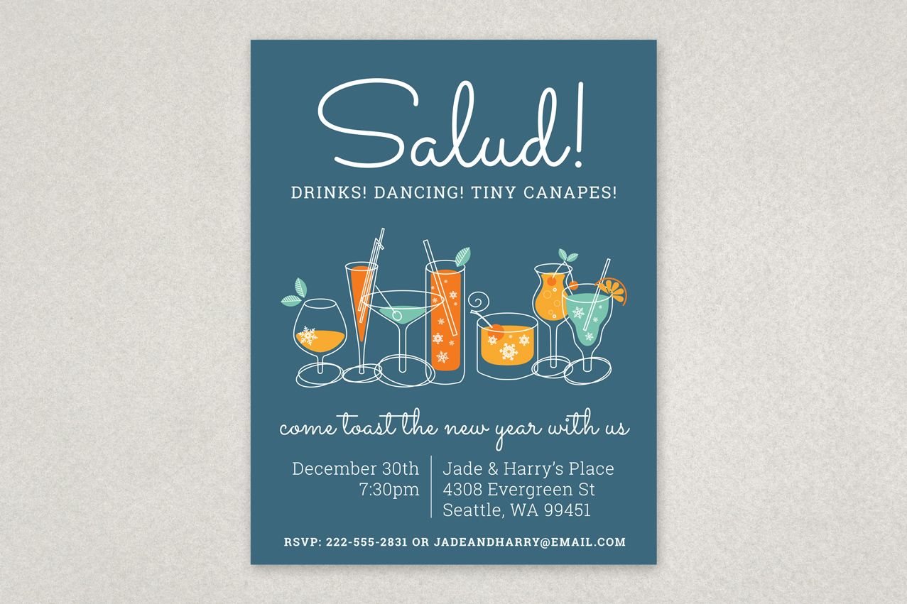 Illustrated Holiday Party Flyer Template From Inkd  Single Page