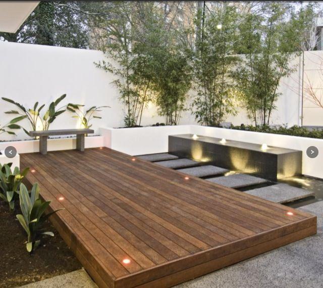 Contemporary garden patio living home decor gardens plants for Outdoor patio inspiration