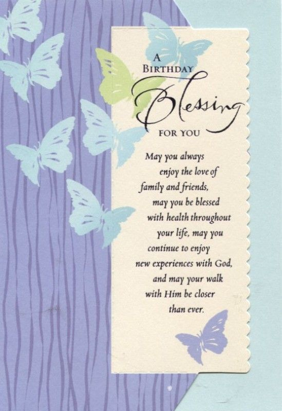 Birthday Blessings Prayer