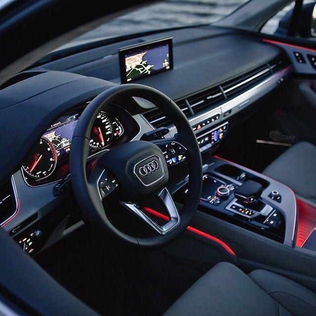 Awesome Audi 2017 2016 Audi Q7 3 0tdi Quattro S Line 272hp V6 Turbo Diesel Cars Vehicles Audi Interior Audi Q7 Interior Audi Q7