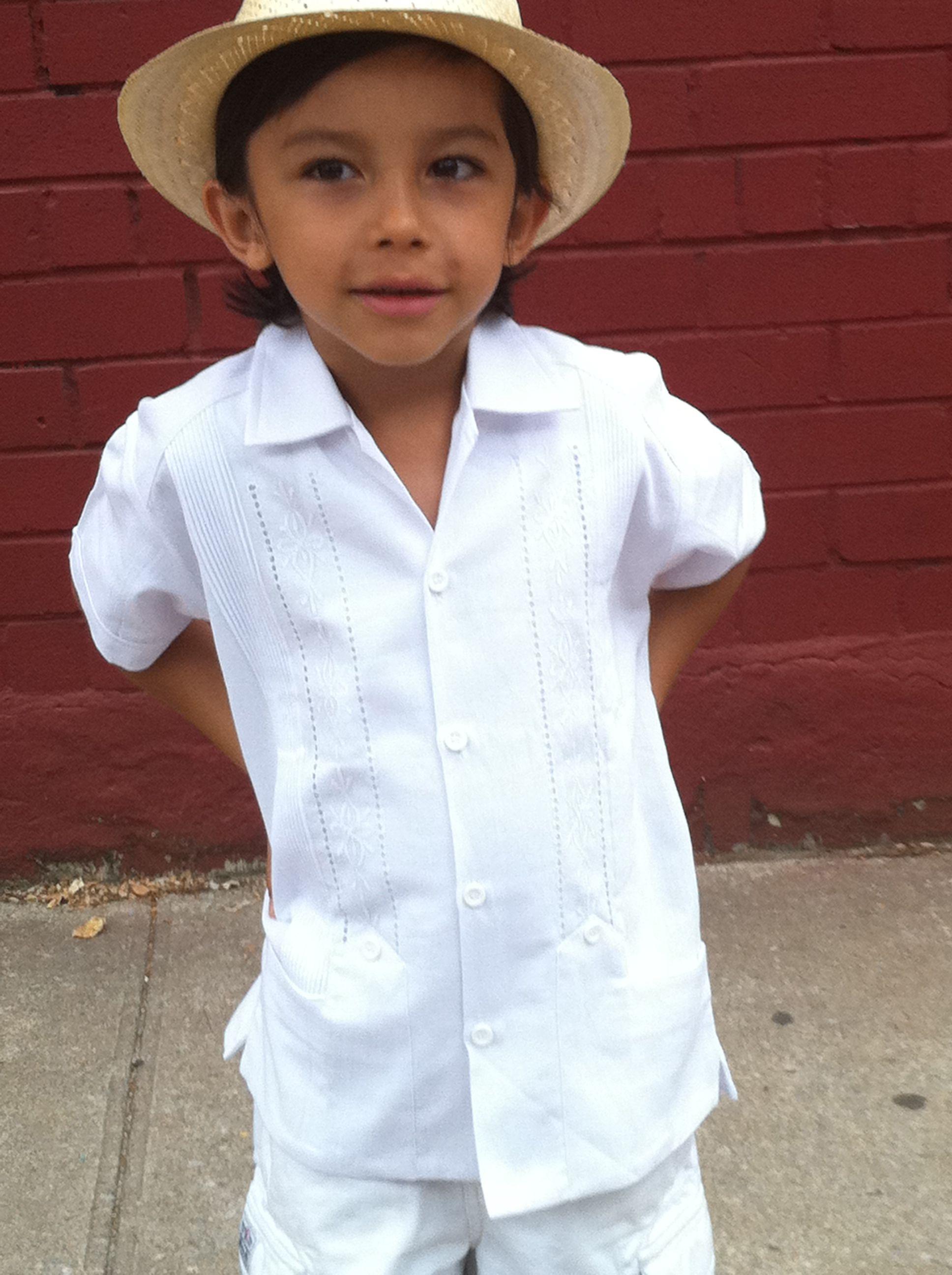 Beautiful Boys Mexican  Guayabera with short.