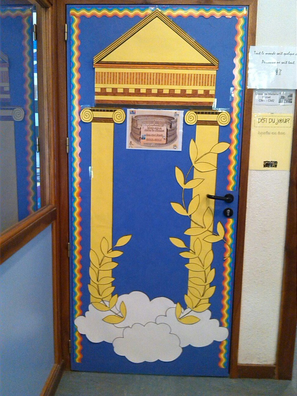 Photo de la porte de ma classe version mythologie for Porte grecque