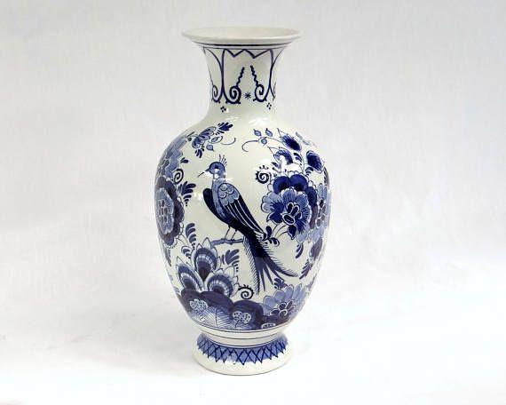 Delft Blue Vase 22cm Delfts Blauw Blue White Handpainted